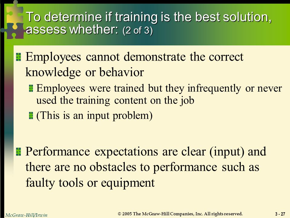 Employees cannot demonstrate the correct knowledge or behavior