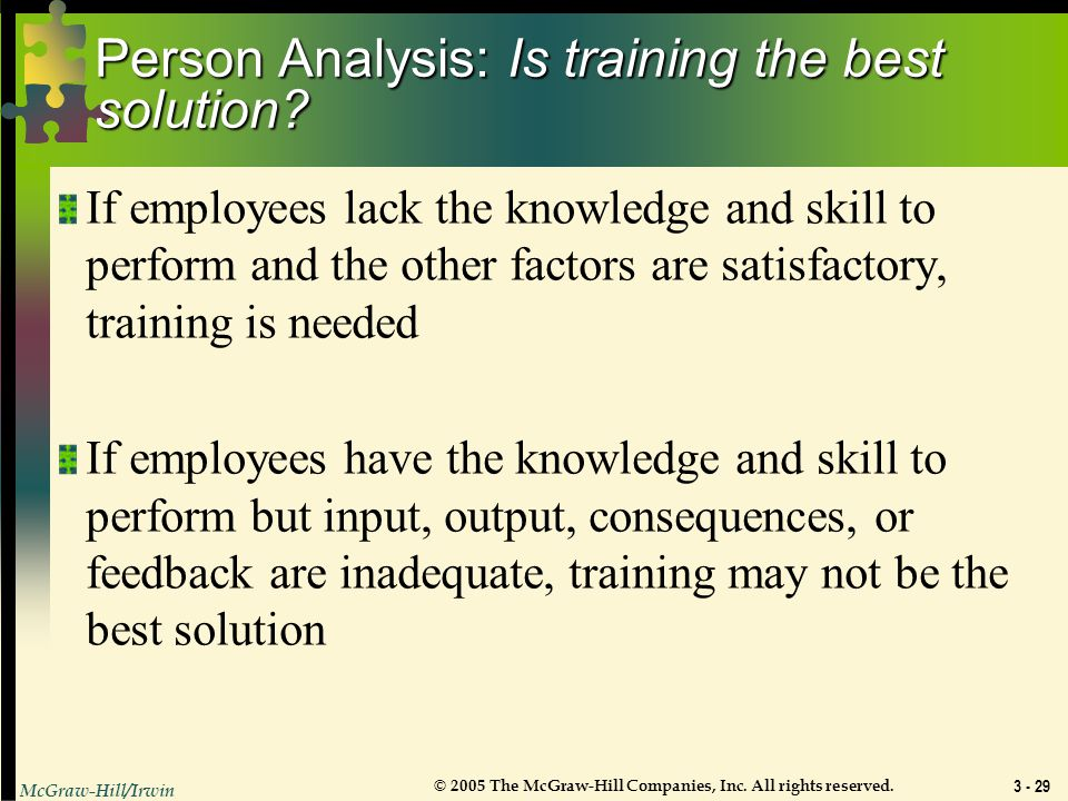 Person Analysis: Is training the best solution