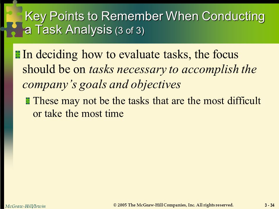 Key Points to Remember When Conducting a Task Analysis (3 of 3)