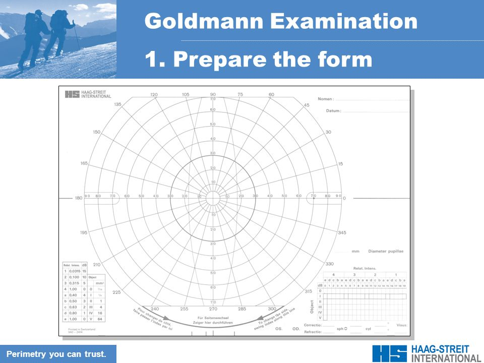 how to read goldmann visual field test