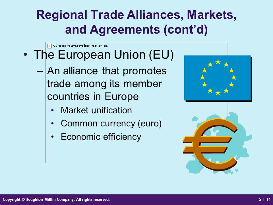 Regional Trade Alliances, Markets, and Agreements (cont'd)