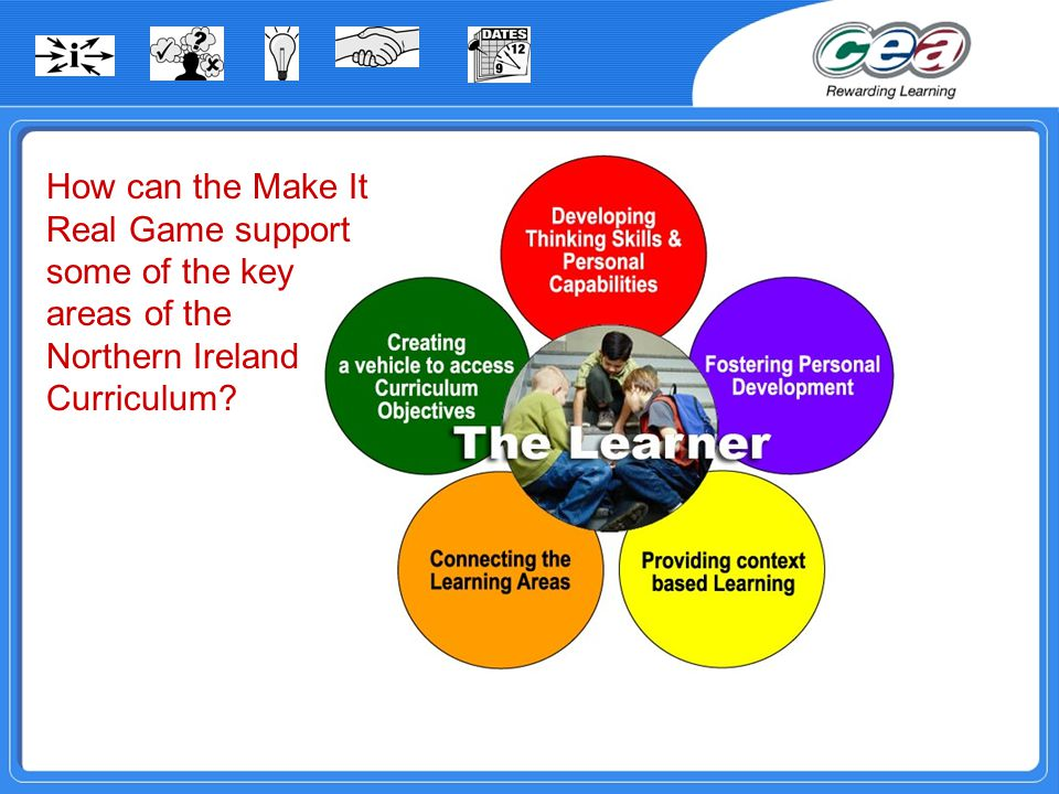 How can the Make It Real Game support some of the key areas of the Northern Ireland Curriculum