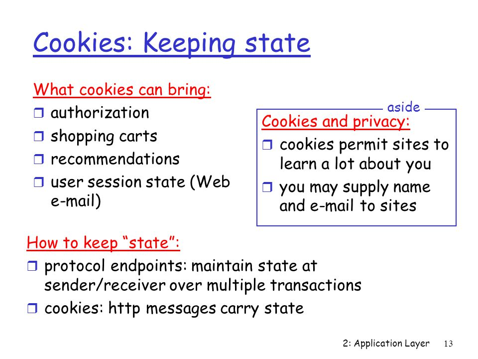 Cookies: Keeping state