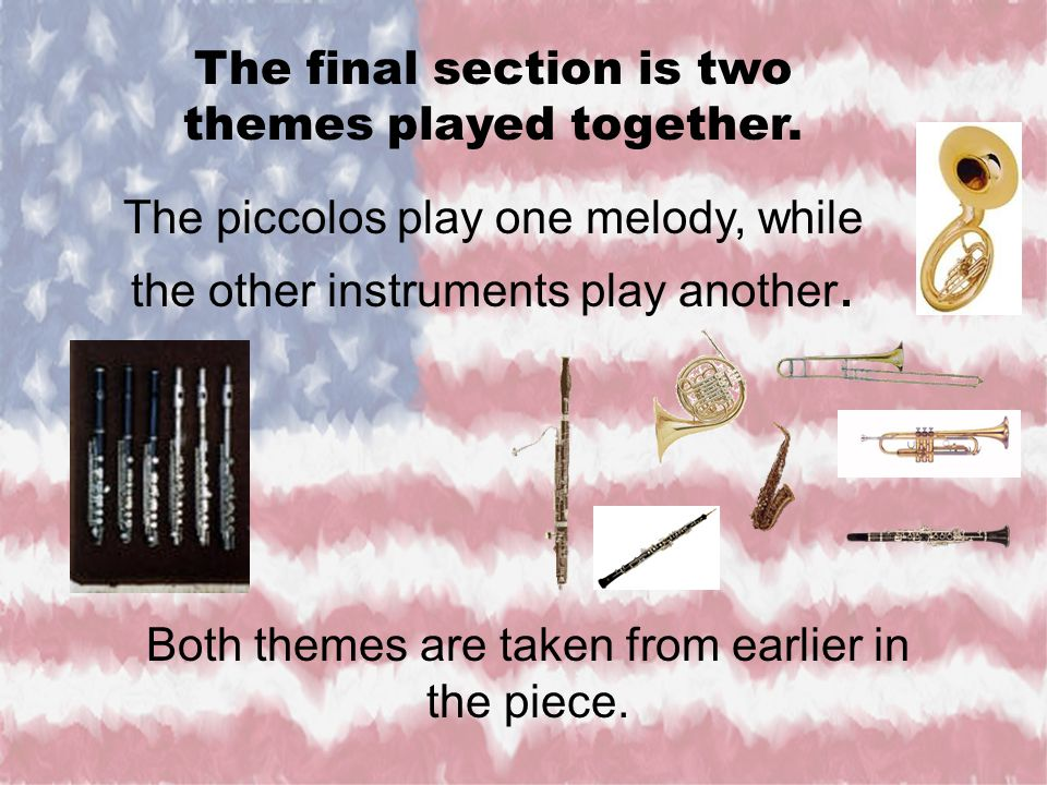 The final section is two themes played together.