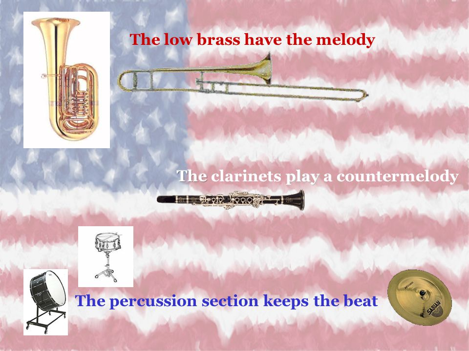 The low brass have the melody