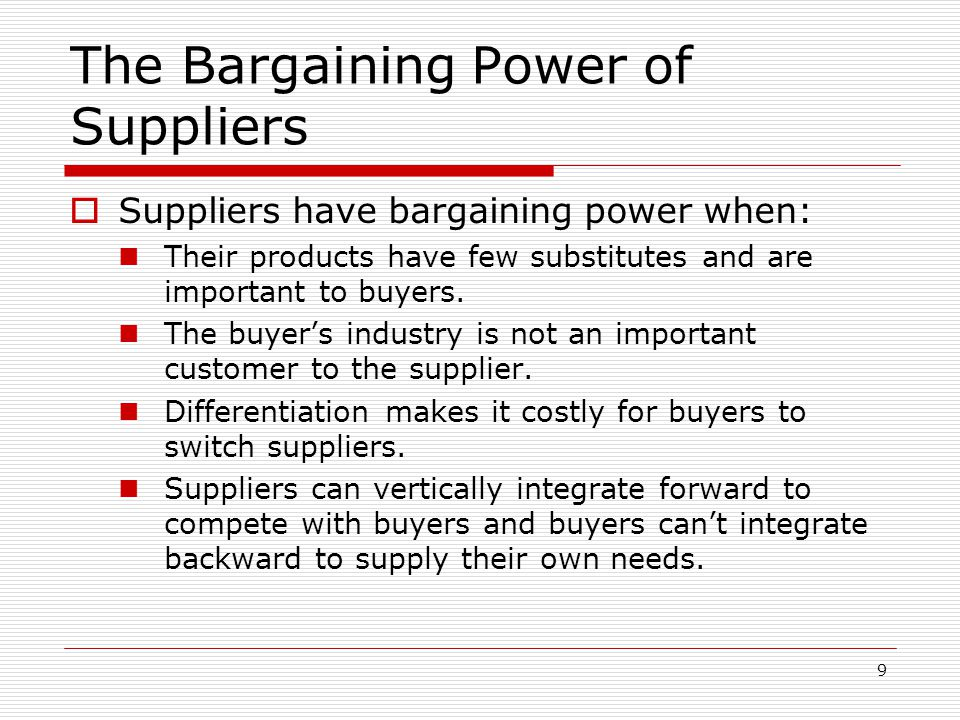 bargaining power of customers in banking industry