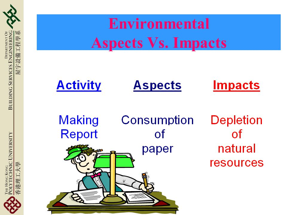 Environmental Aspects Vs. Impacts
