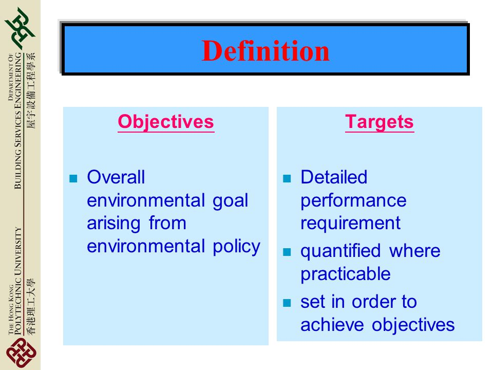 Definition Objectives