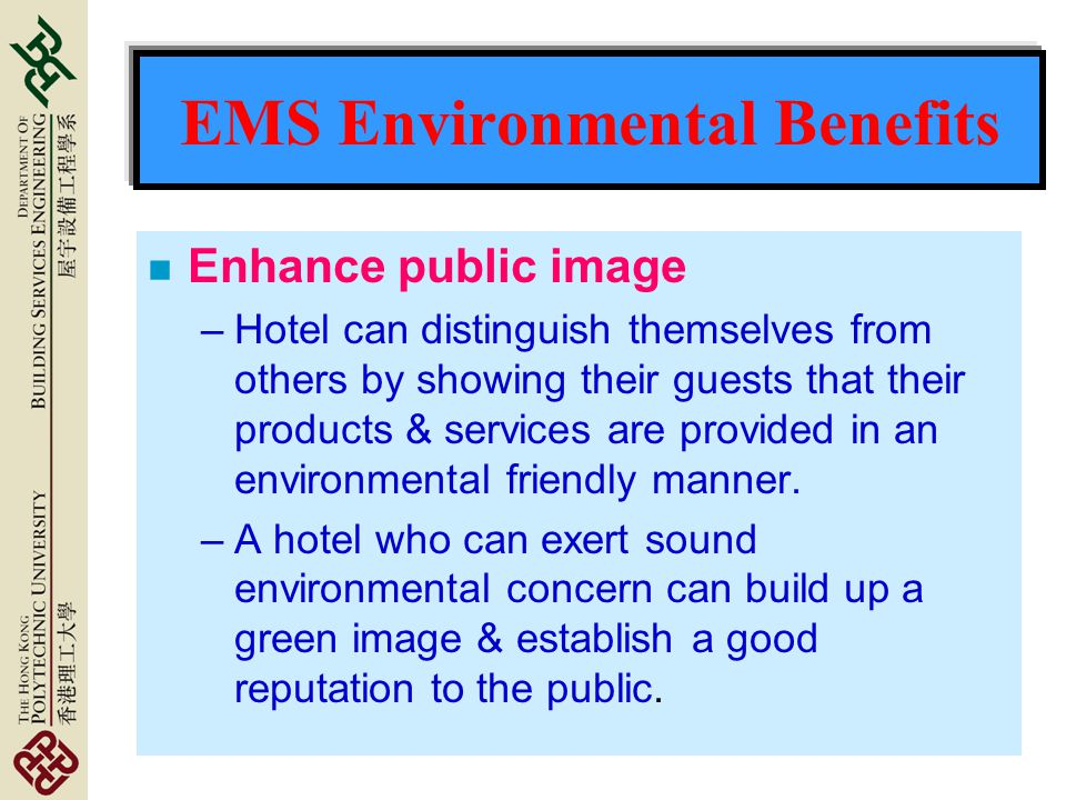 EMS Environmental Benefits