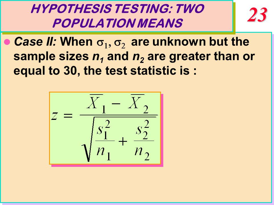Tests of Hypotheses: Large Samples Chapter Rejection region