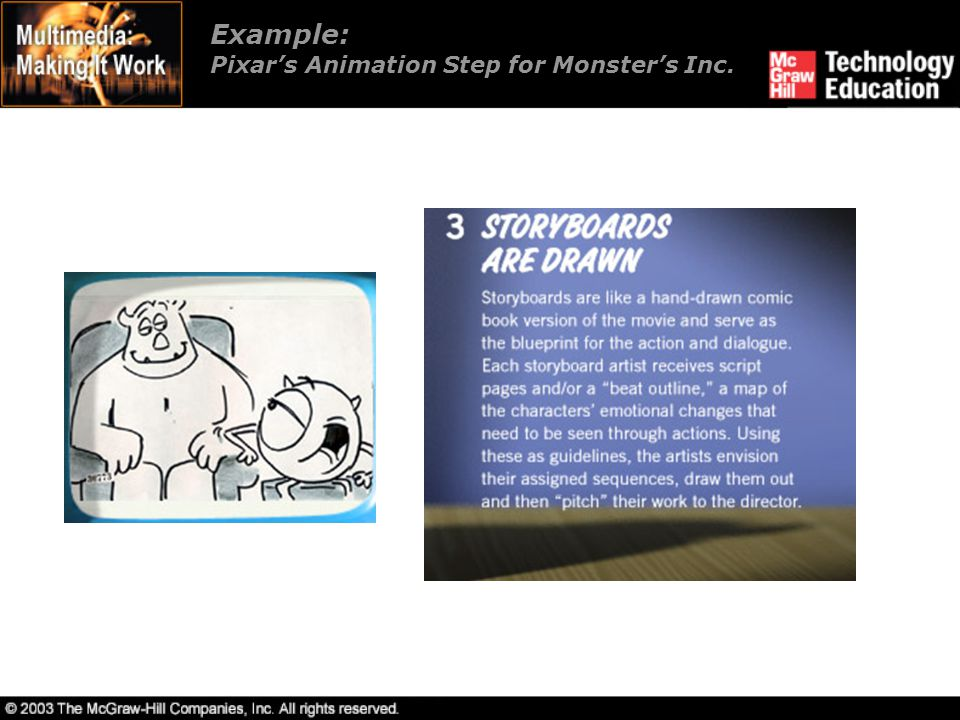 Chapter 6 animation ppt video online download 39 example pixars animation step for monsters inc malvernweather Gallery