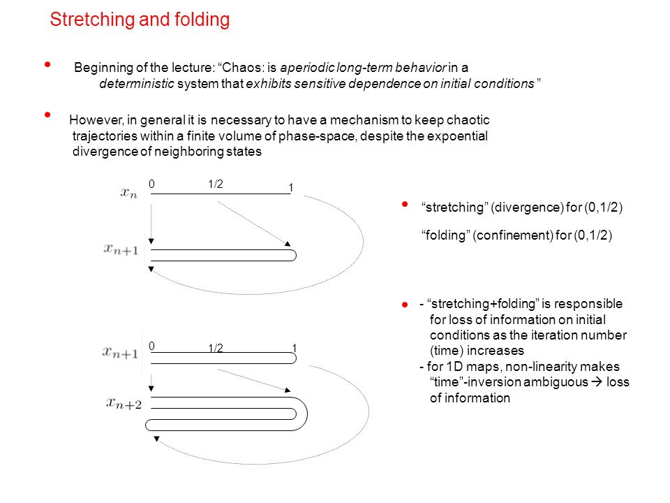 Introduction to chaotic dynamics ppt video online download 22 stretching and folding ccuart Images