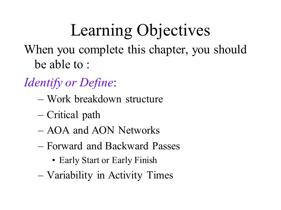 Operations Management Project Management Chapter 3 Ppt