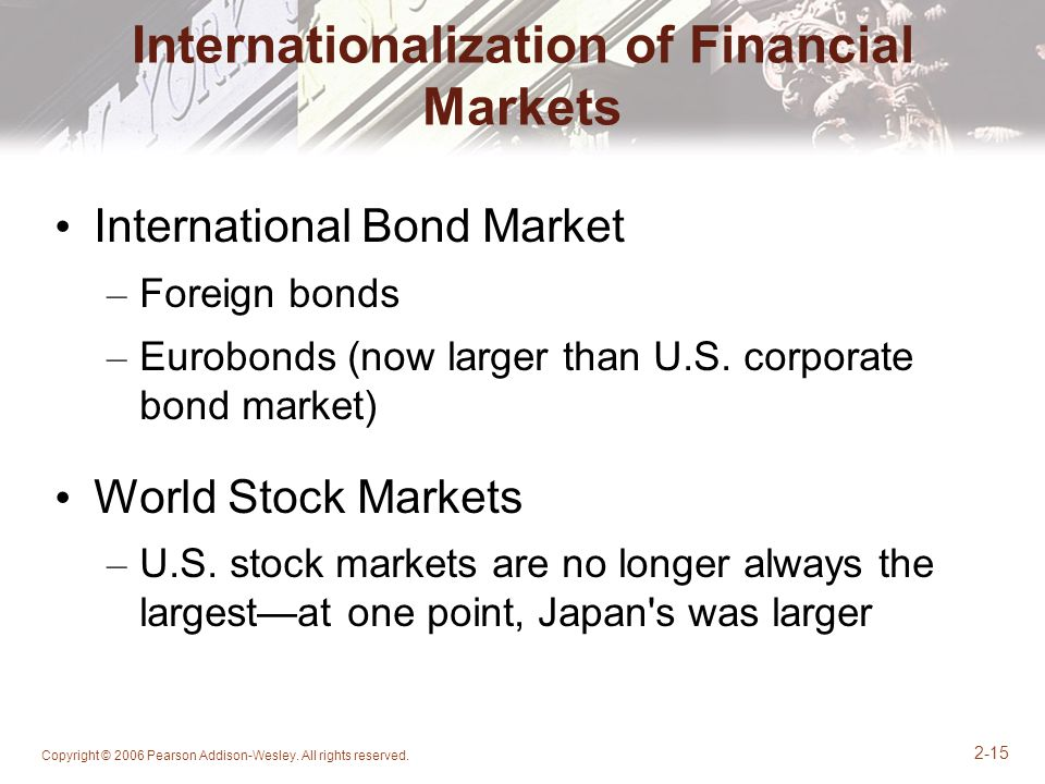 Internationalization of Financial Markets