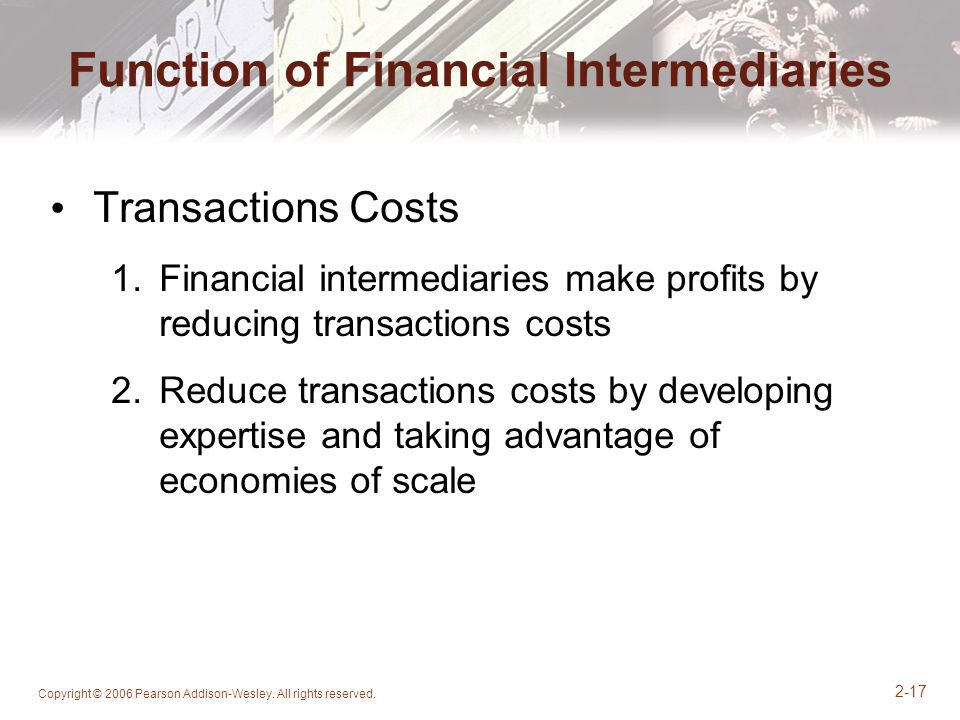 Function of Financial Intermediaries