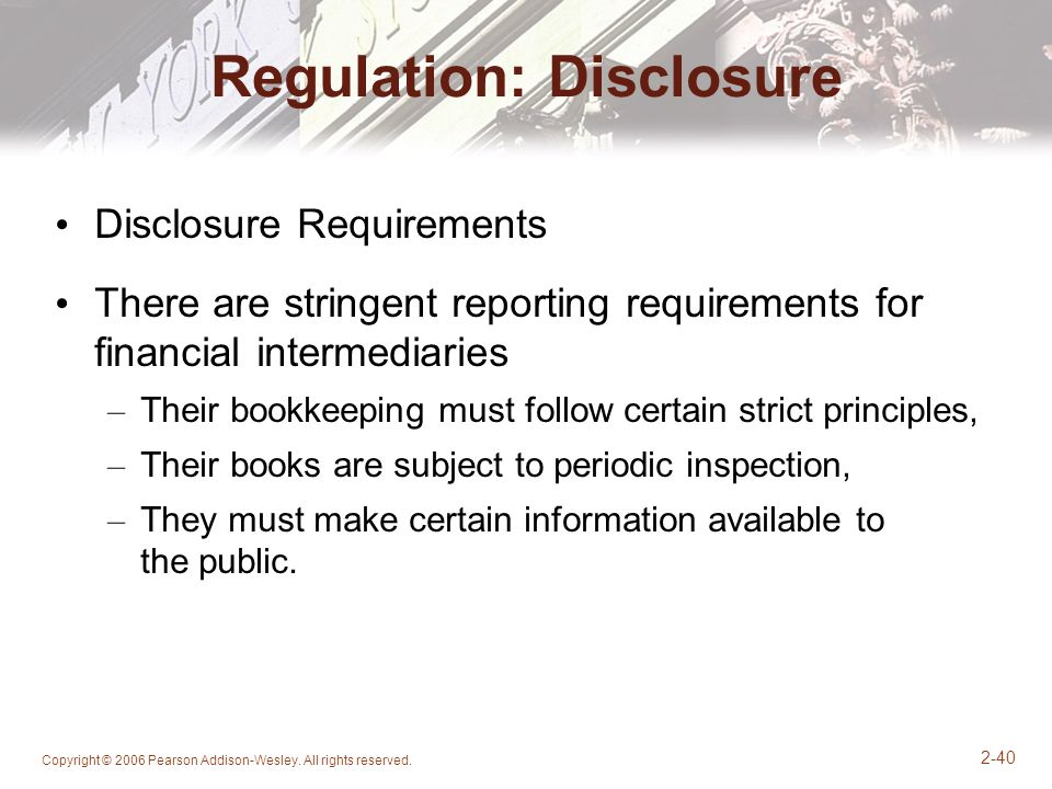 Regulation: Disclosure