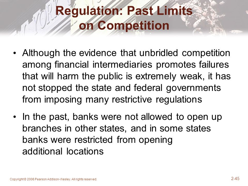 Regulation: Past Limits on Competition