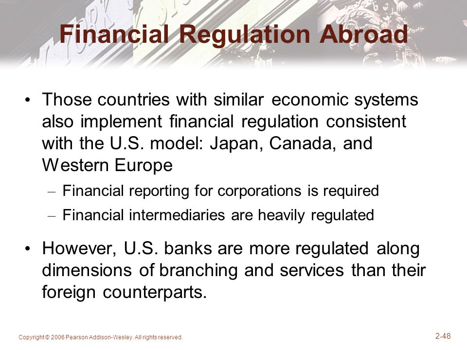 Financial Regulation Abroad