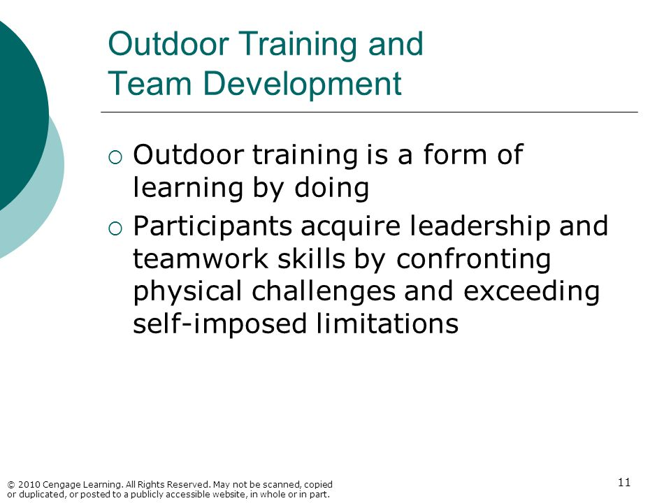Outdoor Training and Team Development