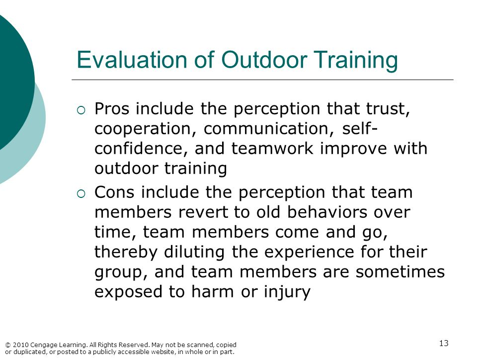 Evaluation of Outdoor Training