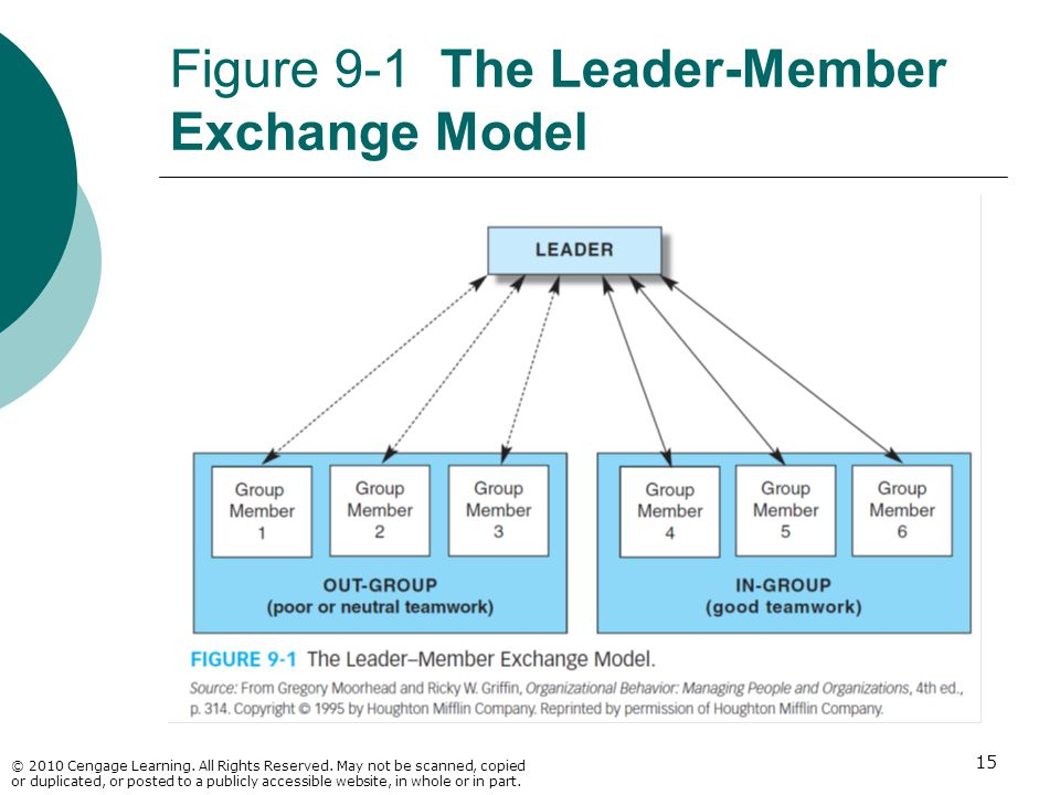 Figure 9-1 The Leader-Member Exchange Model
