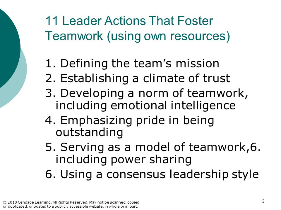 11 Leader Actions That Foster Teamwork (using own resources)