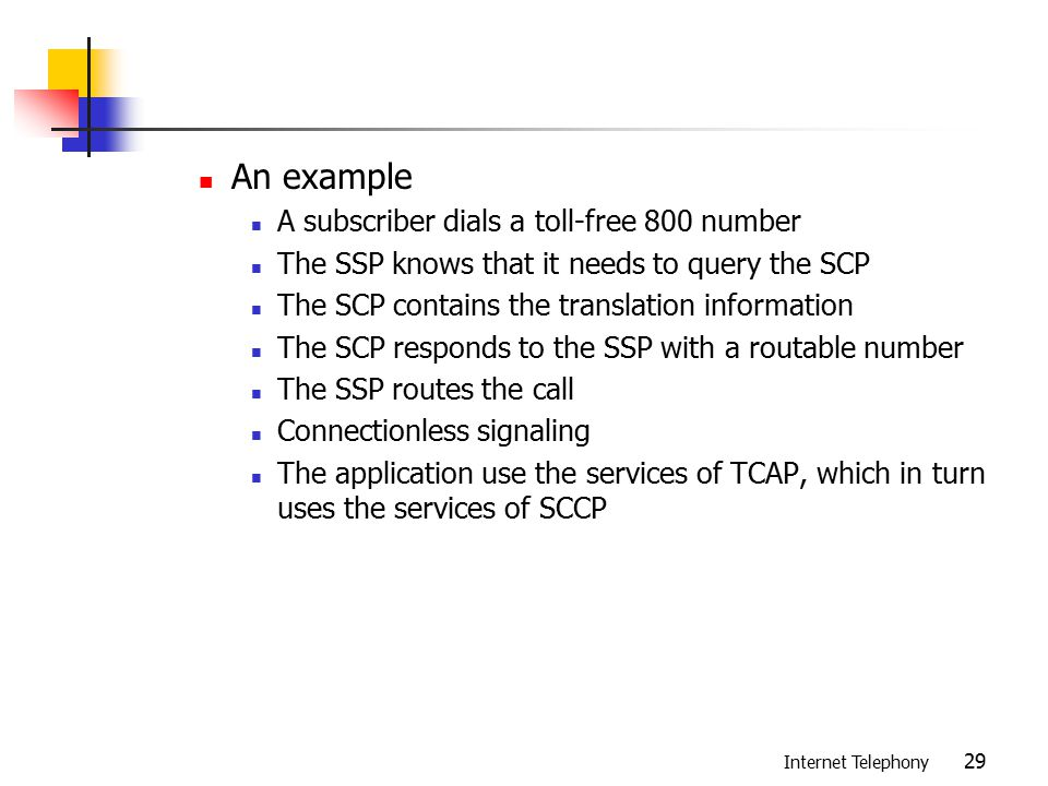 VoIP and SS7 Chapter ppt download