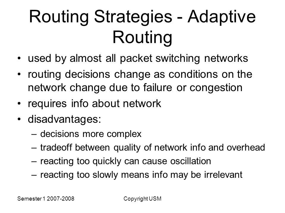 Routing Strategies - Adaptive Routing