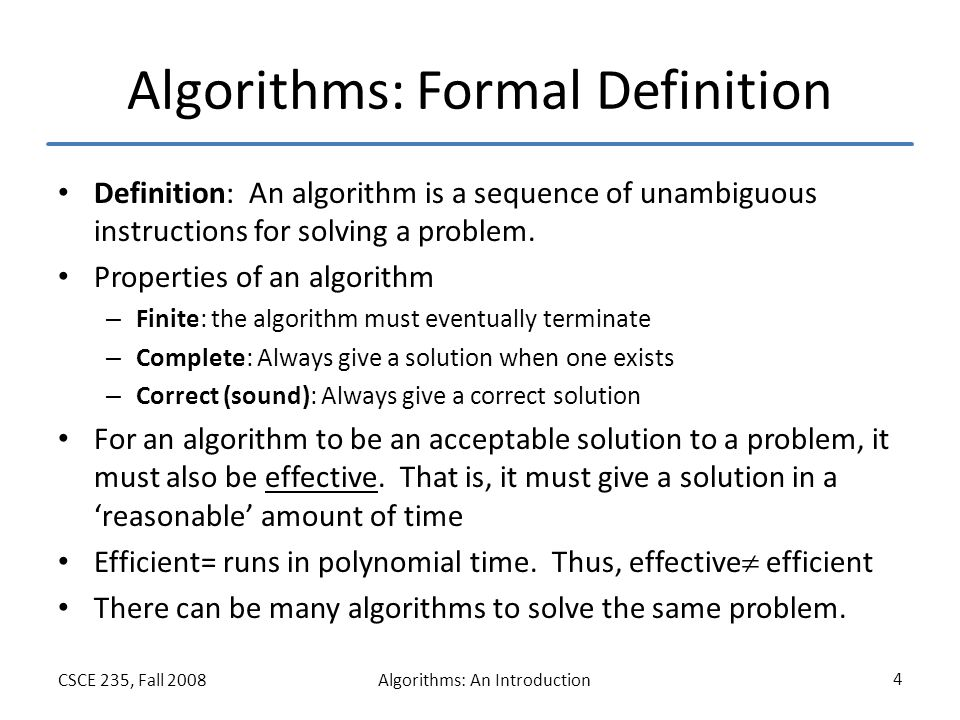 Algorithms: An Introduction - ppt video online download