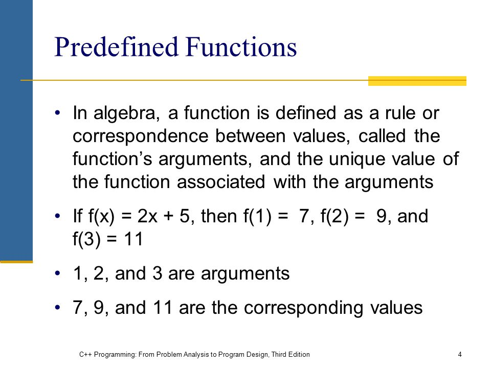 Chapter 6: User-Defined Functions I - ppt video online download