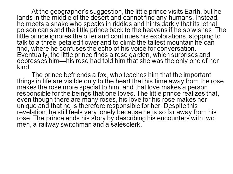 Title The Little Prince Ppt Download