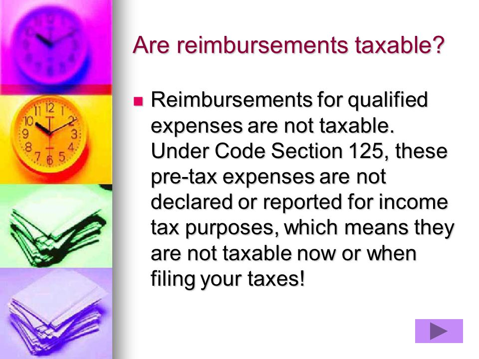 Are reimbursements taxable