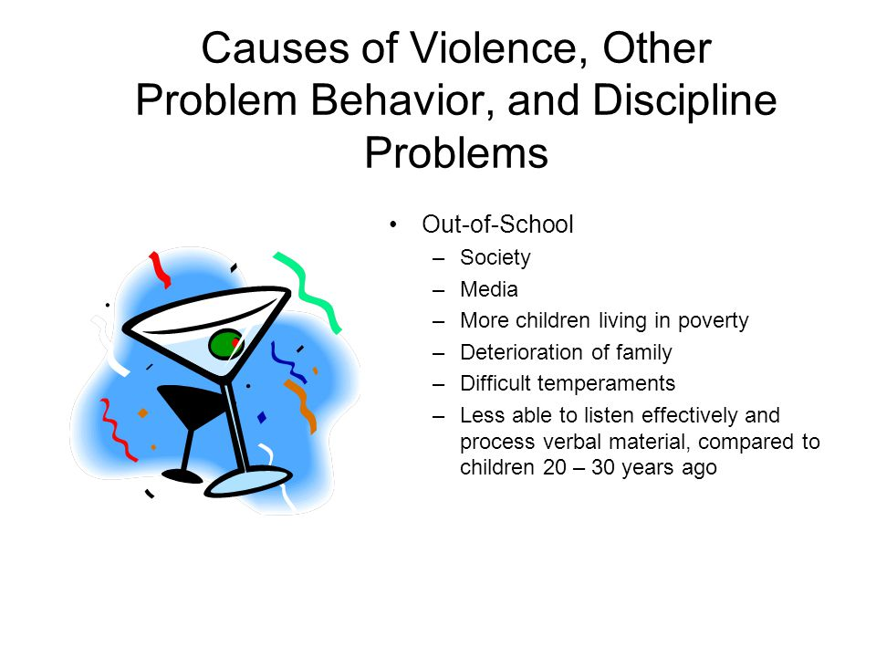 causes of discipline problems in schools