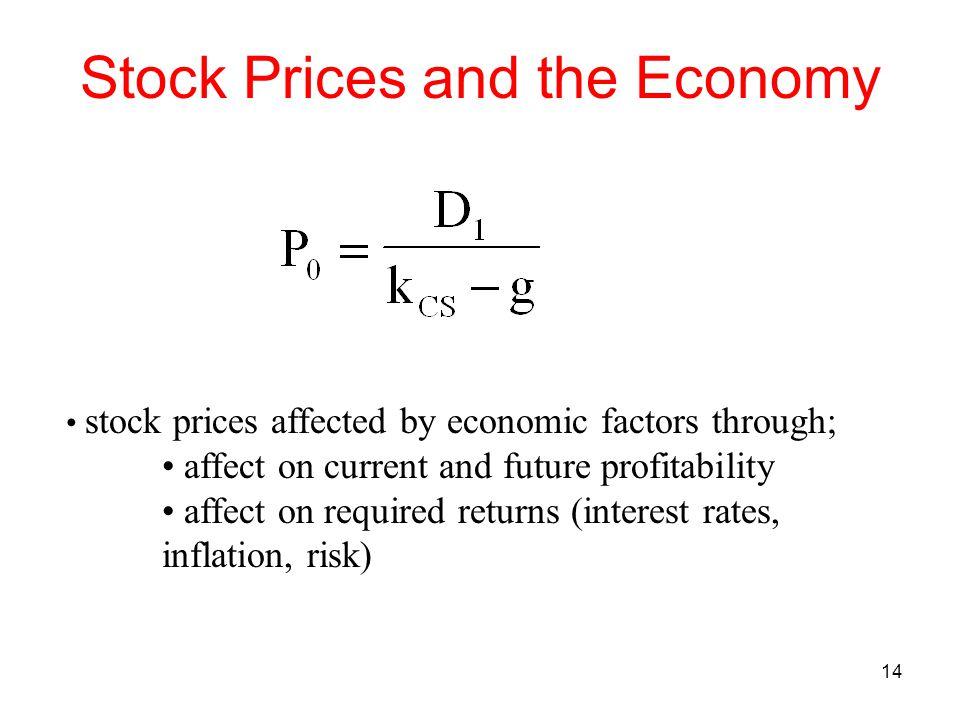 Stock Prices and the Economy