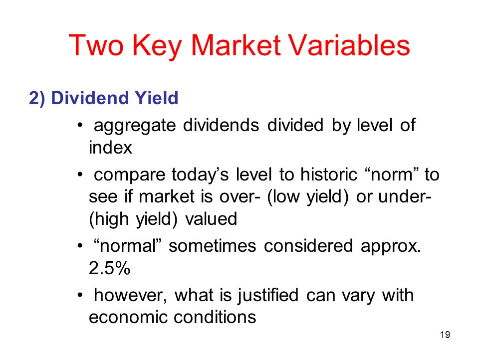 Two Key Market Variables