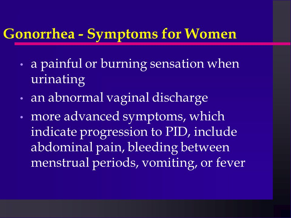 how to stop gonorrhea pain