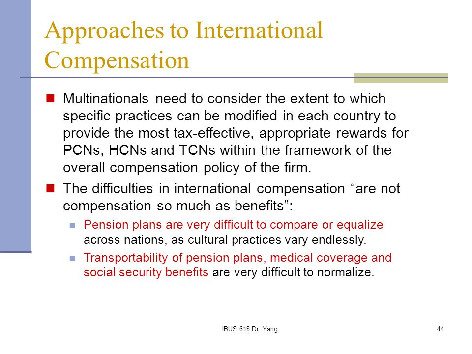 approaches to international compensation pdf