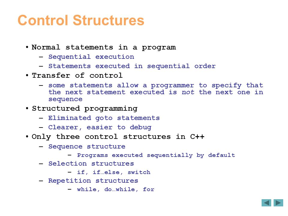 4 control statements ppt video online download