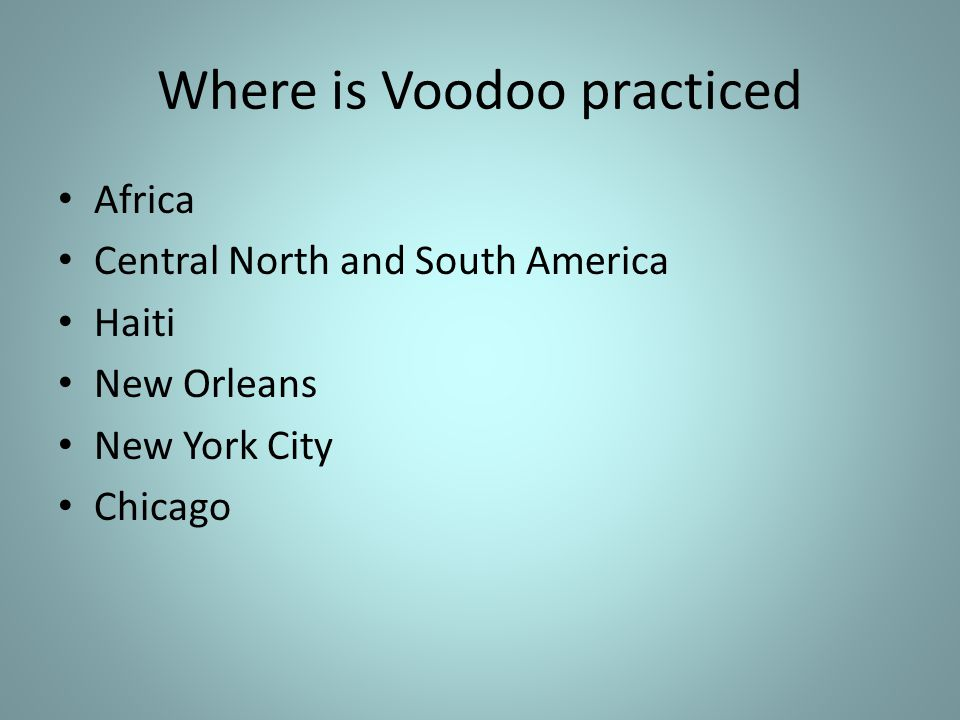 Topic: What is the significance of Voodoo Dr  Amos M D