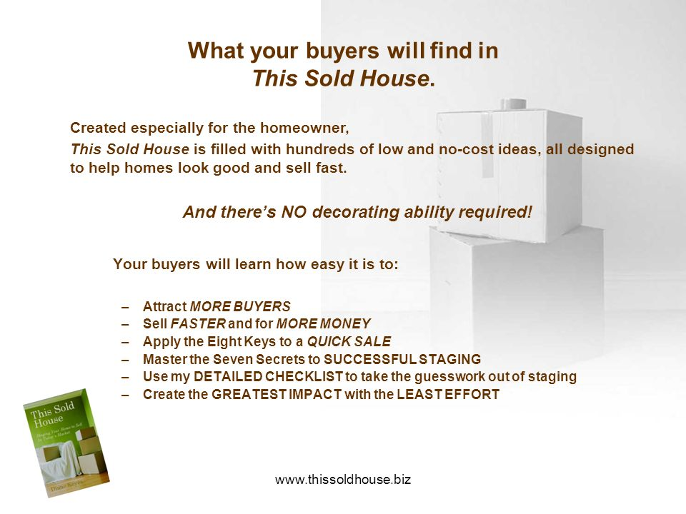 What your buyers will find in This Sold House.