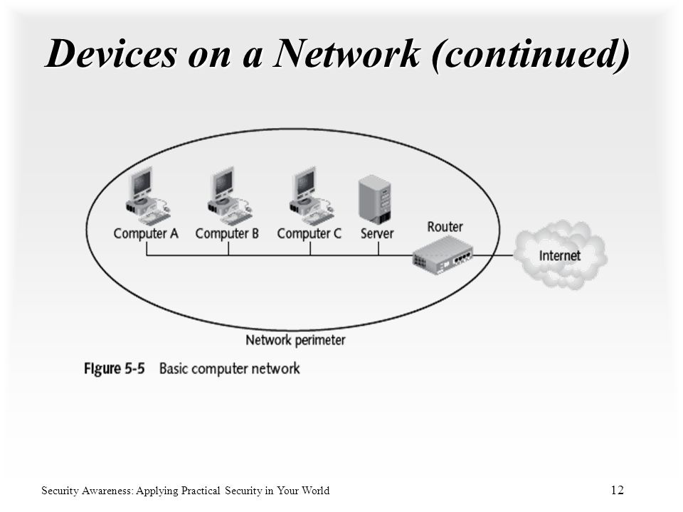 Devices on a Network (continued)