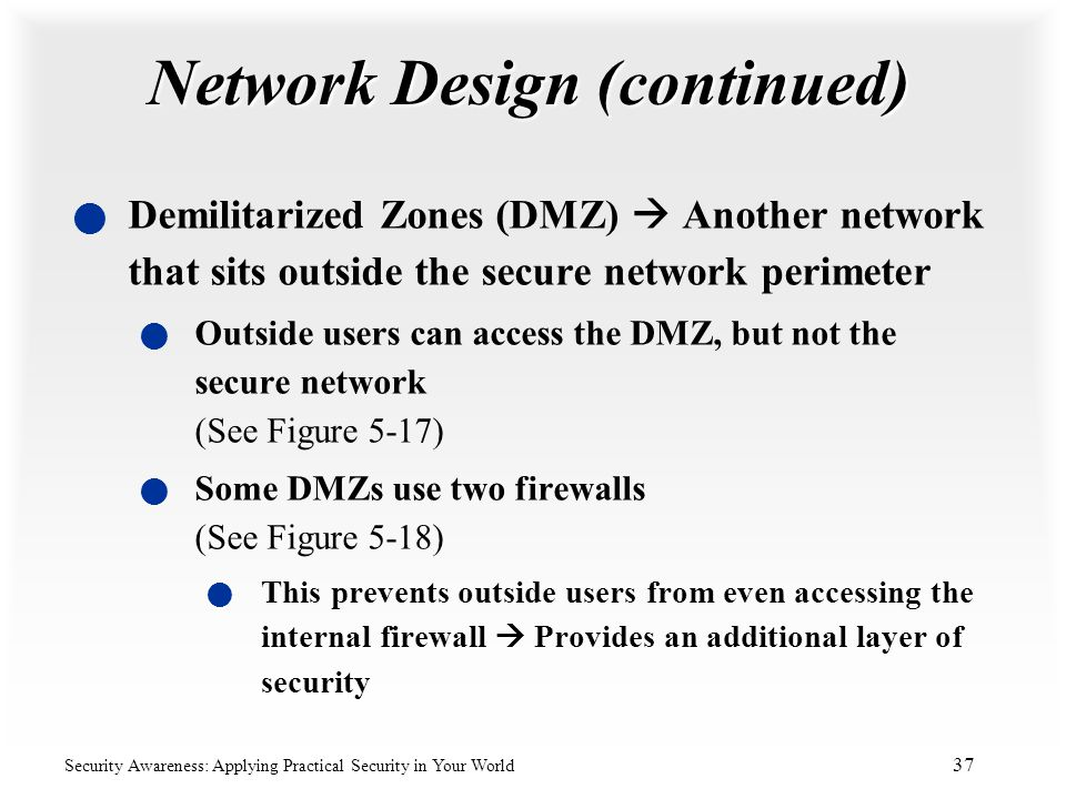 Network Design (continued)