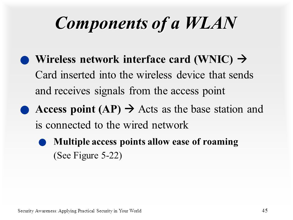 Components of a WLAN