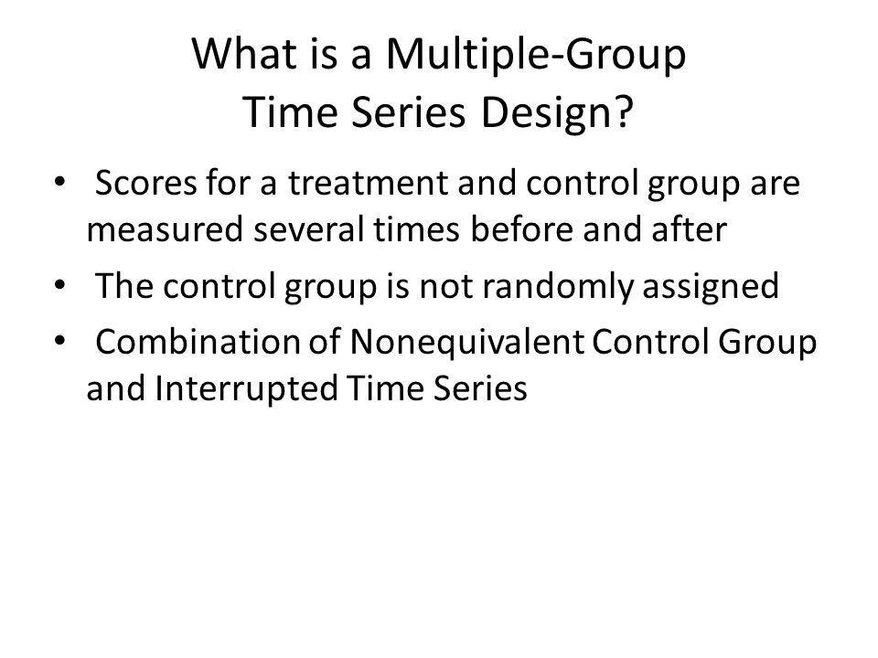 What is a Multiple-Group Time Series Design