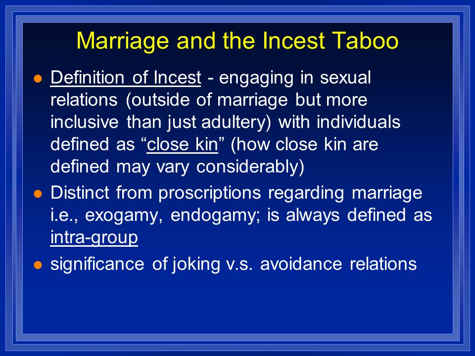 What does taboo mean sexually
