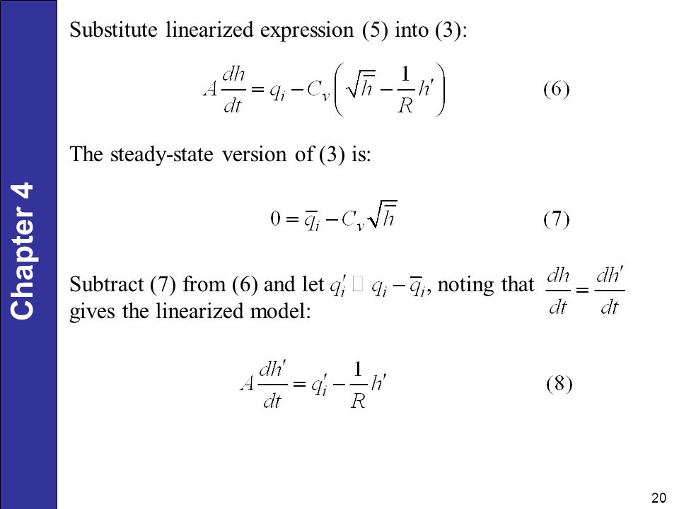 Substitute linearized expression (5) into (3):