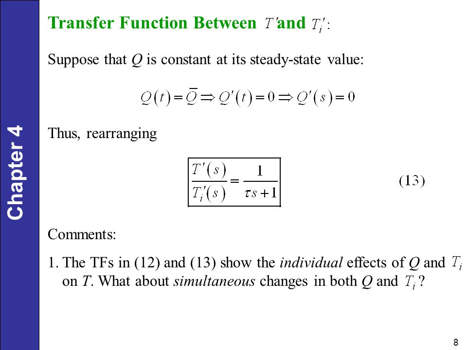 Transfer Function Between and