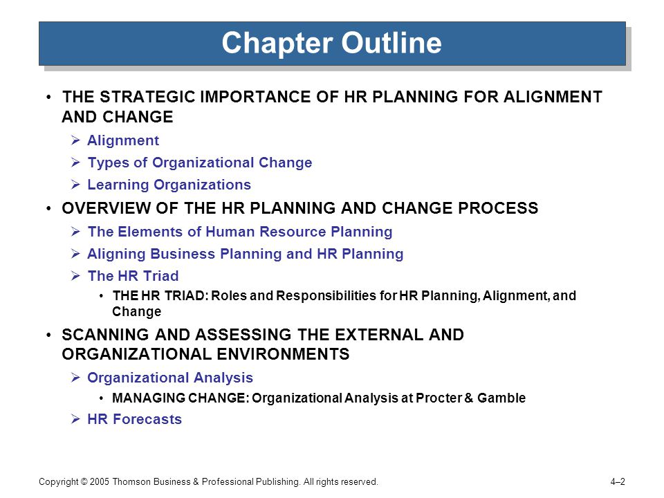 organizational human resource planning