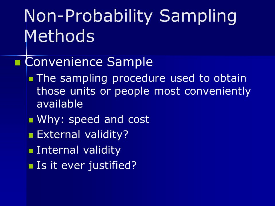 Non-Probability Sampling Methods