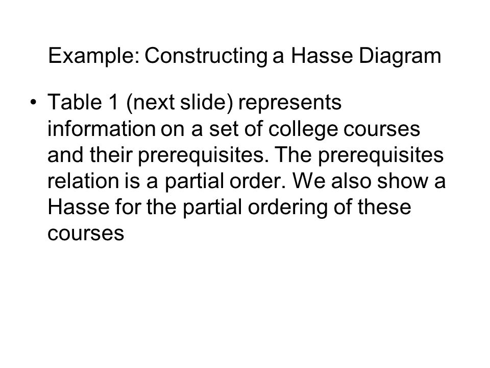 Computing fundamentals 2 lecture 4 lattice theory ppt download example constructing a hasse diagram ccuart Image collections